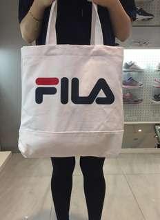 🚚 Fila tote bag white