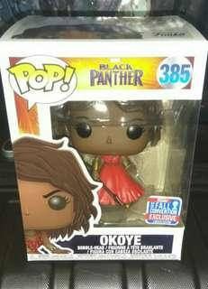 (ON HAND) Okoye with removable Wig Black Panther Marvel Funko Pop Exclusive