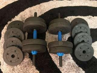 DUMBBLE 30KG (15KG EACH SITE)