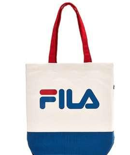 🚚 Fila tote bag white blue
