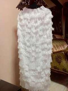 White Fur Skirt