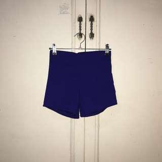 Semi Highwaist Royal Blue Shorts