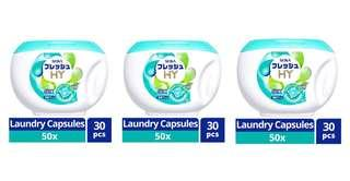 3 x Seika HY Made in Japan 30pcs Laundry Washing Washer Clothes Detergent Capsule Pod Pods