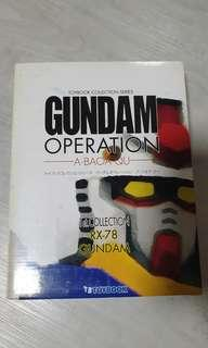 Toybook collection series Gundam operation a.baoa.qu 1st collection rx-78 gundam