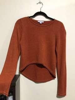 Lulu & Rose Rust Knit Sweater