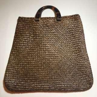 Thailand Hand made 藤製 Tote Bag