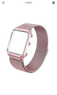 Magnetic Milanese Case Frame and Band - 38mm rose gold