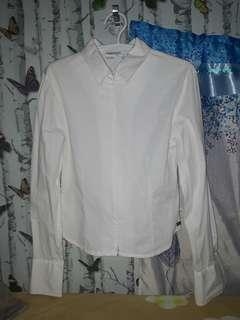 White Zippered Long Sleeves