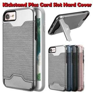 🚚 High Quality Samsung iPhone Android Kickstand Card Slot Case