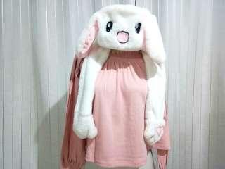 Topi Kelinci Kpop Bunny Hat Kupluk Musim Dingin Winter Korea