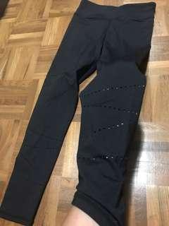 Cotton on leggings with laser cut details