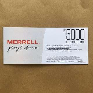 Merrell P5k voucher no expiry