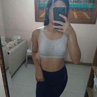 VSX white sports bra