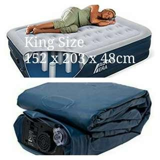 Active Era Premium King Size Air Bed. Built-in Pump n Pillow