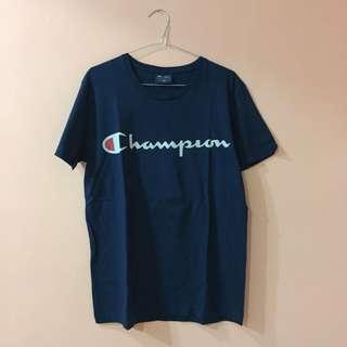Kaos champion navy t shirt