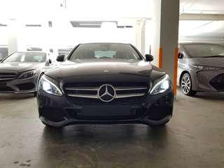 New Mercedes Benz C350E hybrid for rent