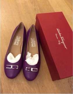 Salvatore Ferragamo Shoes flats 8c 全新羊皮鞋