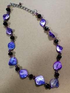 Unique Purple Necklace