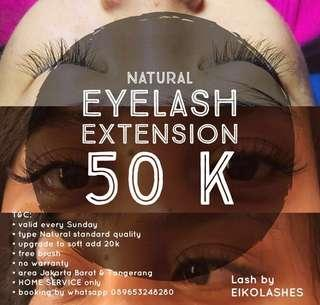 Promo Sunday Eyelash Extension Natural 50 ribuan