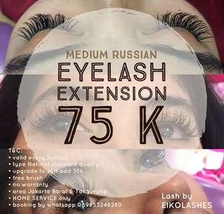 Promo Sunday Eyelash Extension Medium Russian 75k