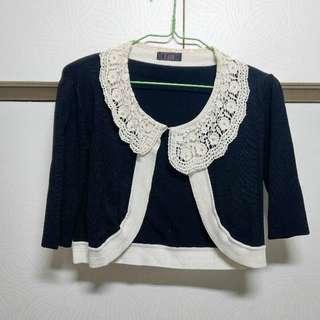 🚚 出清專櫃品牌E.san針織短版七分袖外套尺碼F