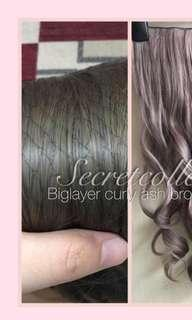Hair Clip Big Layer Ash Brown HC-AB
