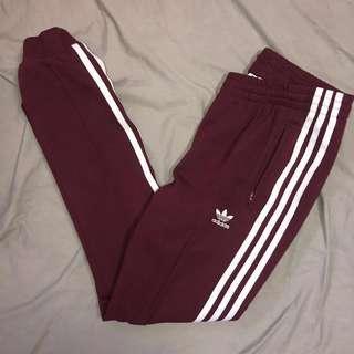 Adidas burgundy sweatpants