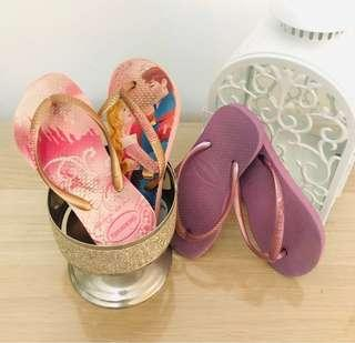 🚚 Pre 💖 Auth Havaianas Girls' Slippers