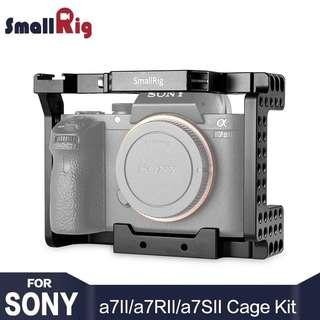 SmallRig A7M2 Cage Aluminum Alloy Camera Cage for SONY A7II / A7RII / A7SII Camera Form Fitting Cell With Cold Shoe Mount - 1660