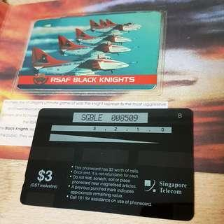 $4 each. 1997 Vintage Singapore Air Force A4 Skyhawk Singtel telephone card SAF RSAF