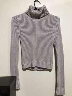 Bardot Nude Turtleneck Sweater