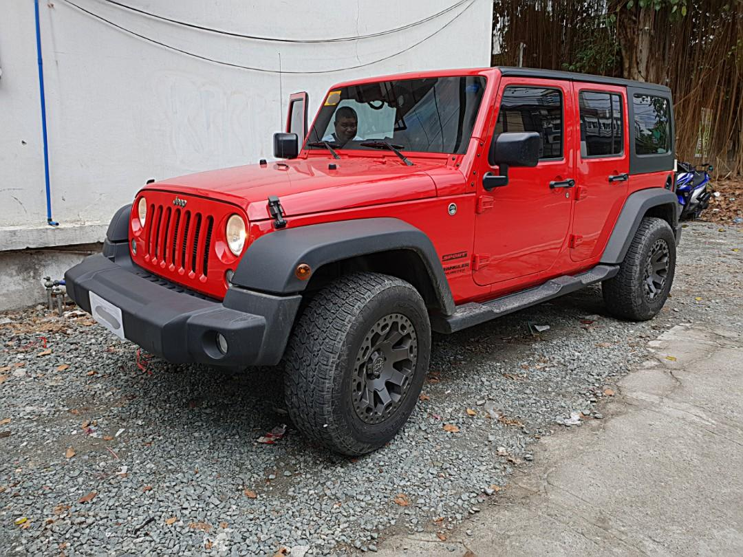 2016 JEEP Wrangler Unlimited Sport V6 Gas like Rubicon Black Rhino Mags warranty up to 2021