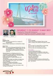 2days Batam Mother's Day Special Dep: 11/5/2019