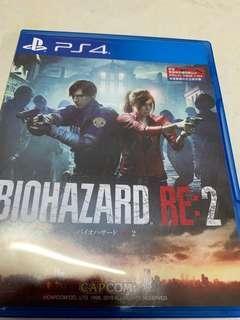 PS4 resident evil2 無code
