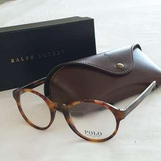 46c7febe4854 Polo Ralph Lauren Round Circle Glasses in Tort Brown Tortoiseshell Frame  Steel Fashion