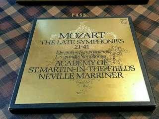 【古典收藏級老套裝黑膠】《特拍價$3800元》  這是《莫札特(MOZART)21-41號交響曲》的經典黑膠唱片《共八片》由荷蘭菲立浦公司出品..... 0316