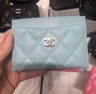 Chanel Tiffani blue card holder