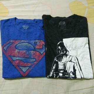 Combo Star Wars & superman Tshirt