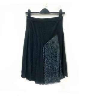 Godet Fashion Style Skirt. Stretchable