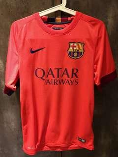 2 x Barcelona Nike S Size Authethic Jersey with Messi Nameset