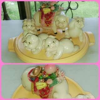 Ceramics Mom Piggy and babies