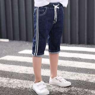 Boy Denim Pants Stretchable Jeans Dark Blue