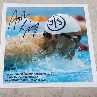 Joseph Schooling autograph post card sale !!!!