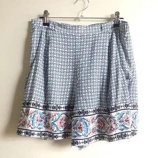 New Look boho print shorts