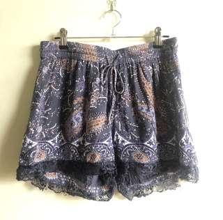 Vero Moda paisley drawstring shorts