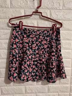 H&M flower skirt 碎花短裙