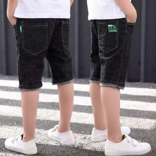 Boy Denim Pants Stretchable Jeans Black