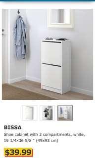 Ikea Bissa shoe cabinet (white)