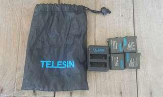 gopro hero 4 telesin battery