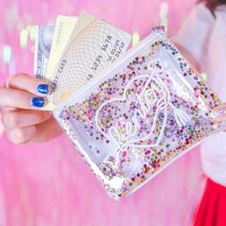 Glitter Transparent Coin Purse / Wallet